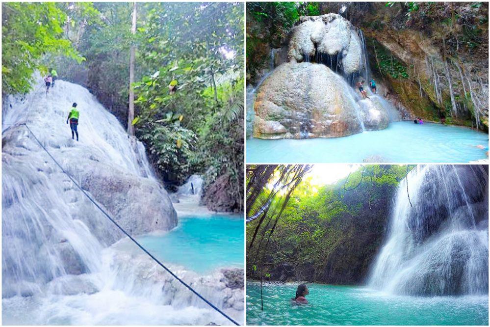 アギニッド滝でプチキャニオニング! 5つの滝を登って飛び込んで楽しむ♪