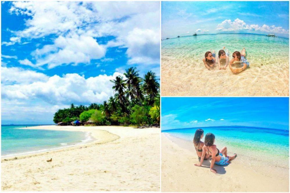 モアルボアルホワイトビーチ 美しい白い砂浜でまったり海水浴