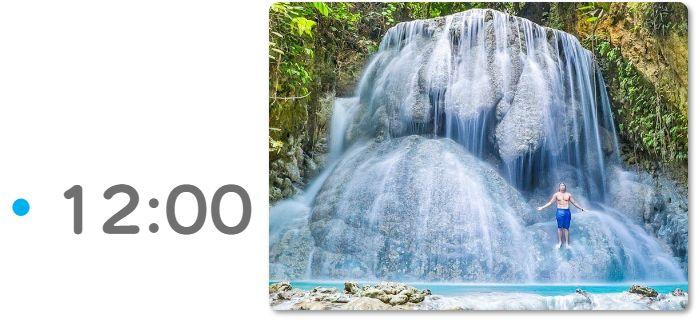 アギニッド滝でキャニオニング 12:00