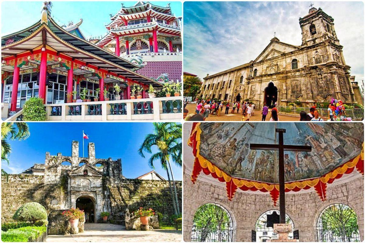 セブ市内観光と人気鉄板スポット! 珊瑚石の要塞と教会、色鮮やかな寺院